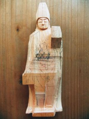 瑠璃観音粗彫りから小造りへ