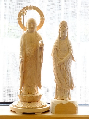 地蔵菩薩と白衣観音