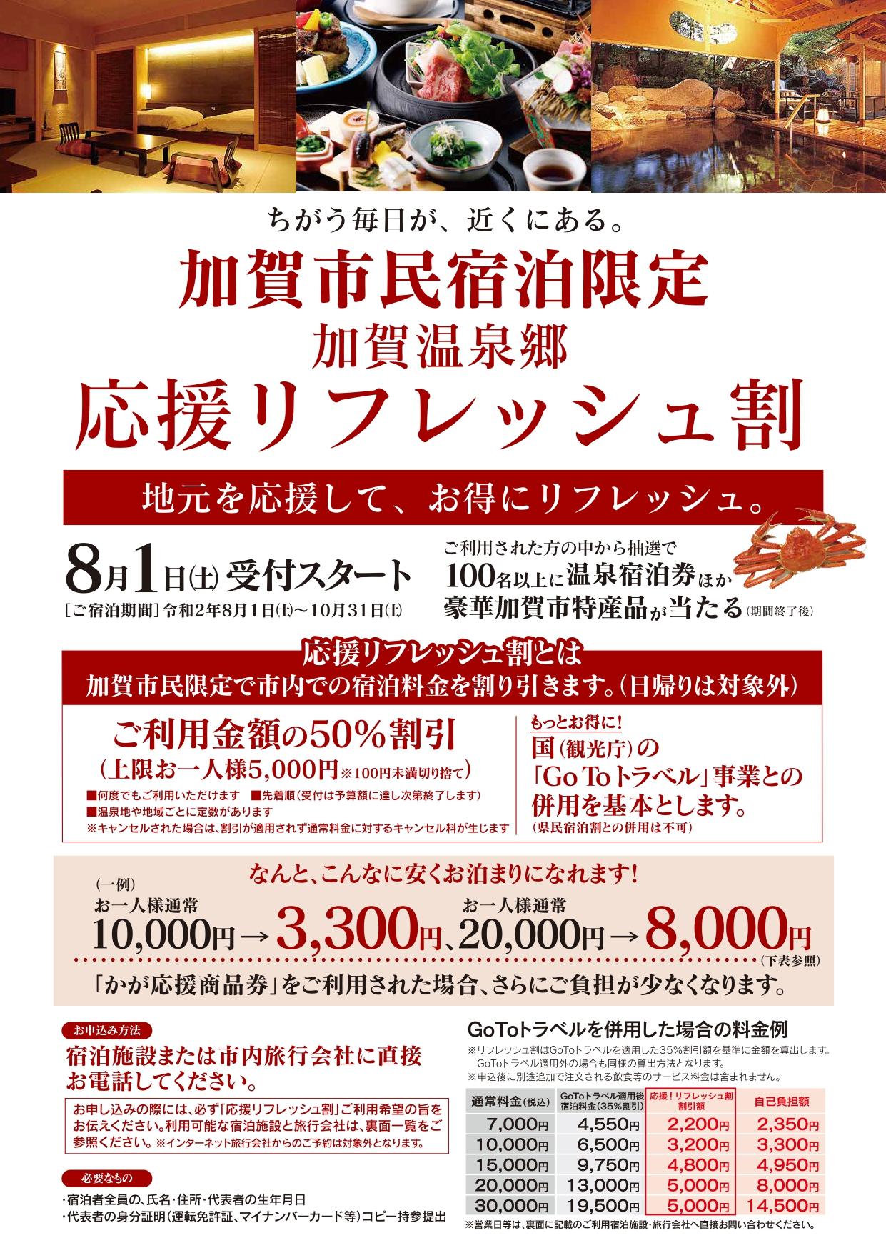 加賀市応援リフレッシュ割1