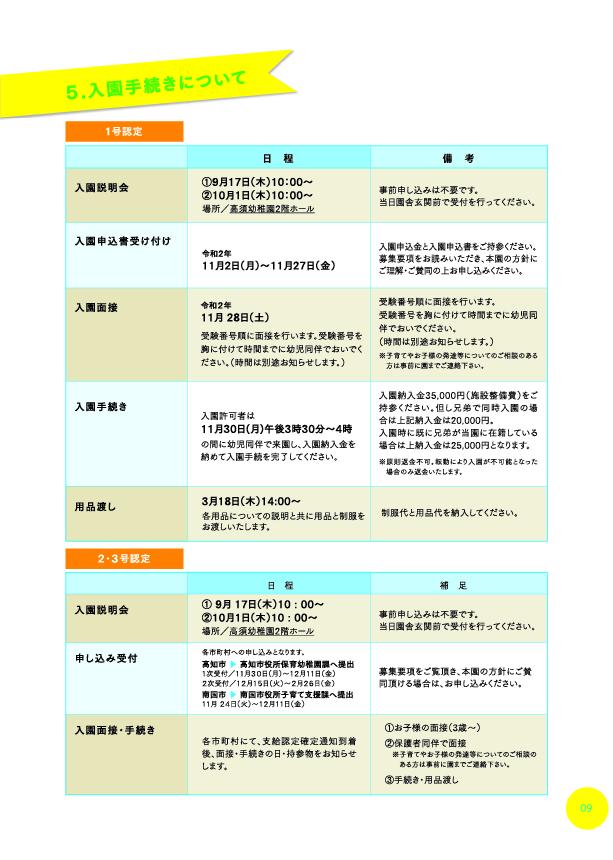 高須幼稚園募集要項10