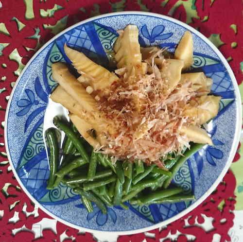 筍と三度豆