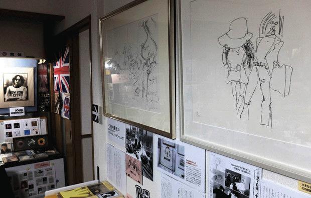 ジョン・レノンが描いたリトグラフ