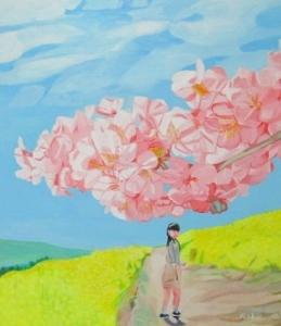 振り返れば、桜