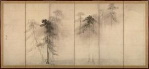 松林図屏風(左隻)