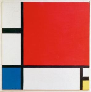 赤・青・黄のコンポジション, 1930