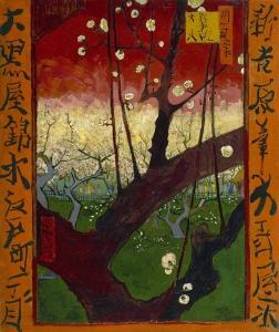 ジャポネズリー:梅の開花(広重を模して)