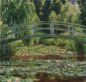 ジヴェルニーの日本の橋と睡蓮の池