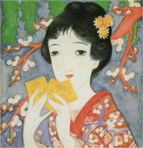 初春(1926年春『婦人グラフ』の表紙絵の原画)