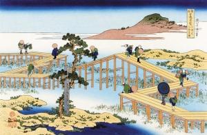 三河の八ツ橋の古図 (みかわのやつはしのこず)
