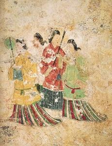 高松塚古墳壁画 西壁女子群像