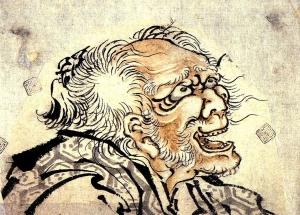 82歳(数え年83歳)頃の自画像(一部)