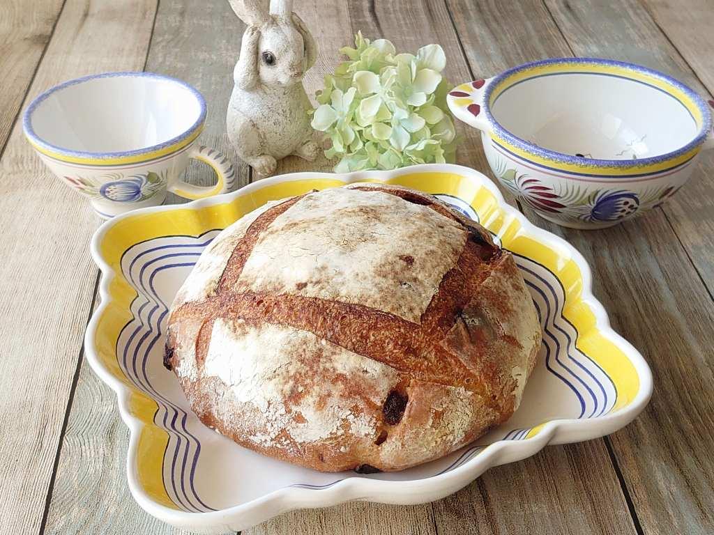 おうち時間☆バーミキュラでパンを焼く!!「チョコいちじくカンパーニュ」