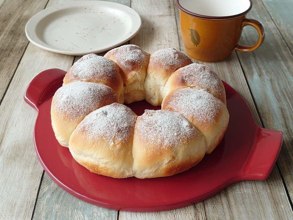 おうち時間☆バーミキュラでパンを焼く!!「ヨーグルトアップル」