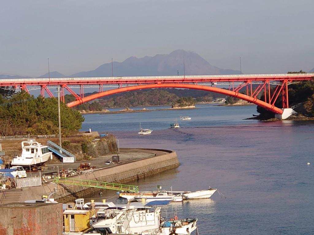 熊本県☆天草の宿「五橋苑」絶景!明け方の蒸気霧と上天草の海の幸を満喫
