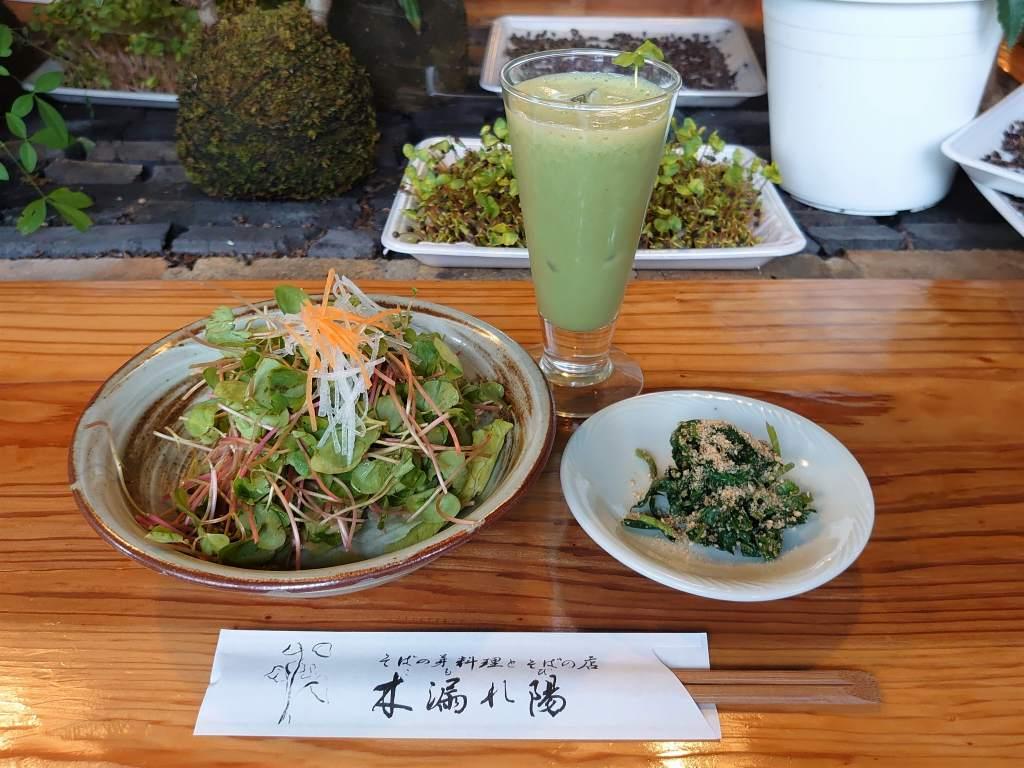 「木漏れ陽(佐賀県佐賀市)」在来種の北山ソバとそばの芽料理が楽しめる隠れ家的人気店