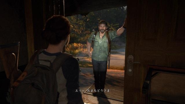 The Last of Us® Part II_楽器屋へ向かうためにホテルを通り抜けるエリー達