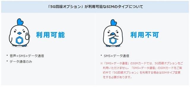 5G対応SIMの注意