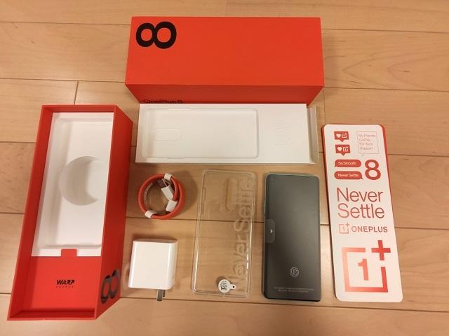「OnePlus 8」の同梱物